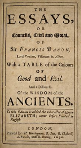 Cover of Bacon's essays