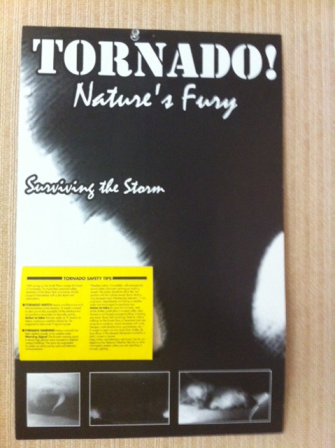 An example of the tornado public info cards that are commonly distributed around our town.