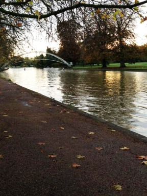 My home town, Bedford, is famous for its suspension bridge and the river.