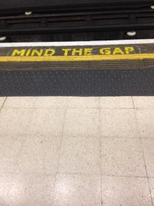 Mind the Gap - London Tube.