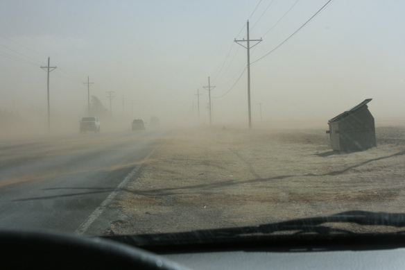 Driving to work last week...