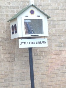 A churchified Little Free Library. Close, but not quite there.