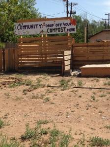 Community compost station.