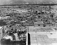 Hiroshima in ruins. October 1945, two months after the explosion. (Source: Wikipedia.)