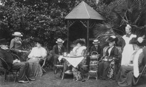 Tea in the garden circa 1905