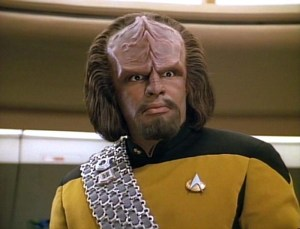 Worf from Star Trek - an homage?
