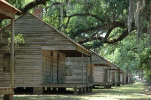 Slave quarters in Louisiana (recreations).