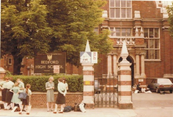 My old school in England in 1982 - Bedford High School....