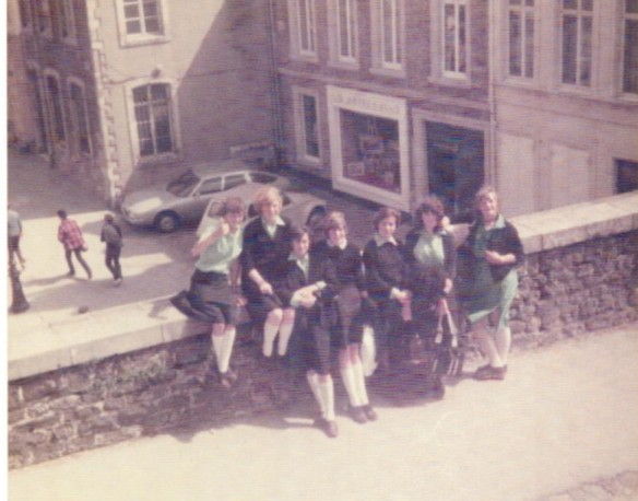 Our group of (naughty) friends on a BHS trip to Boulogne (or Calais) in 1978...