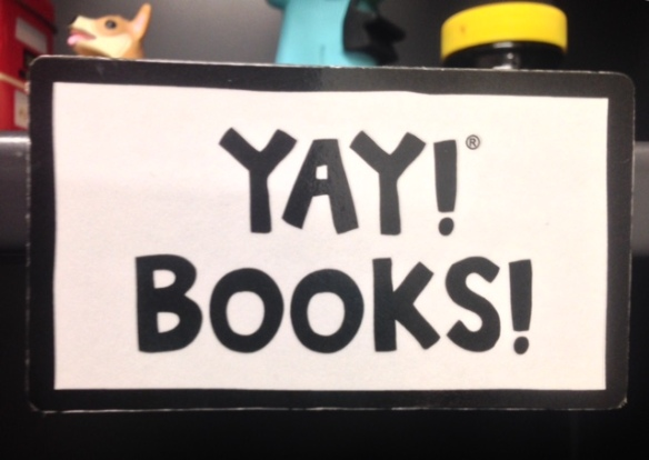 "Magnet saying ""Yay! Books!"""
