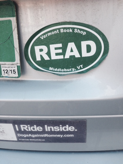 read bumper sticker