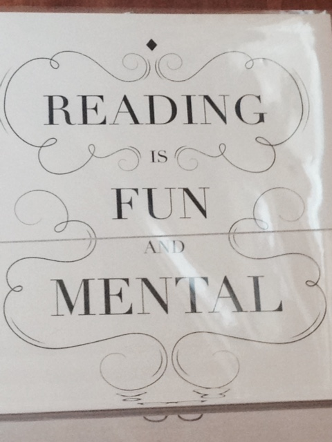 reading fun mental sign