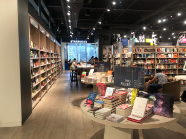 View of inside Indigo bookshop.