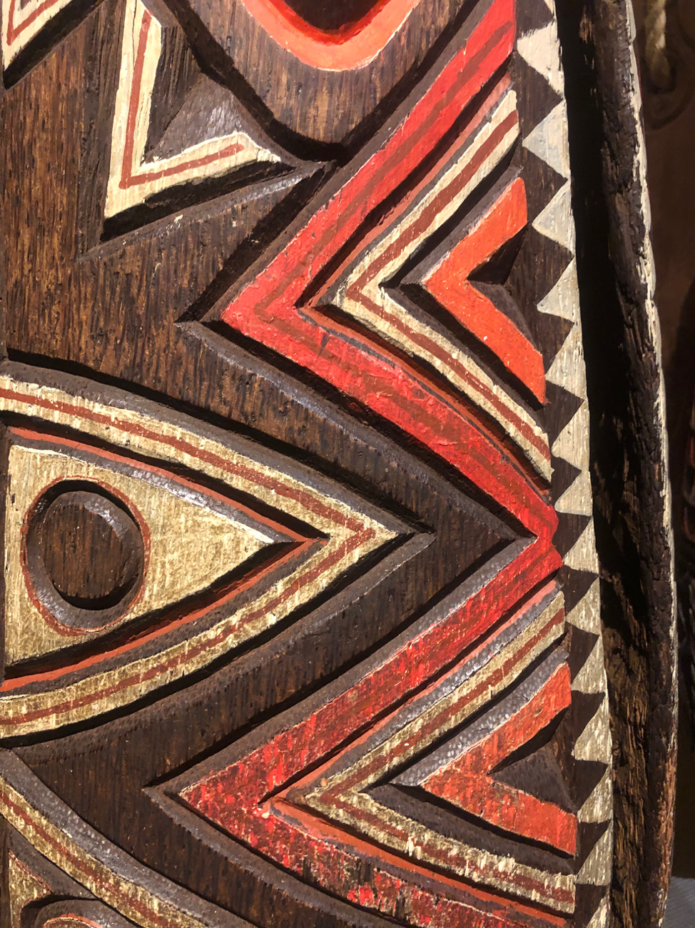 An example close-up of some aboriginal native art.